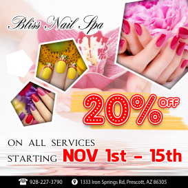 Bliss Nail Spa | Nail Salon 86305