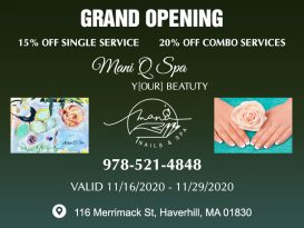 Nail salon in Haverhill MA 01830