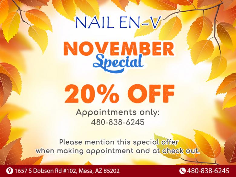 Nail salon in Dobson Ranch Mesa AZ 85202