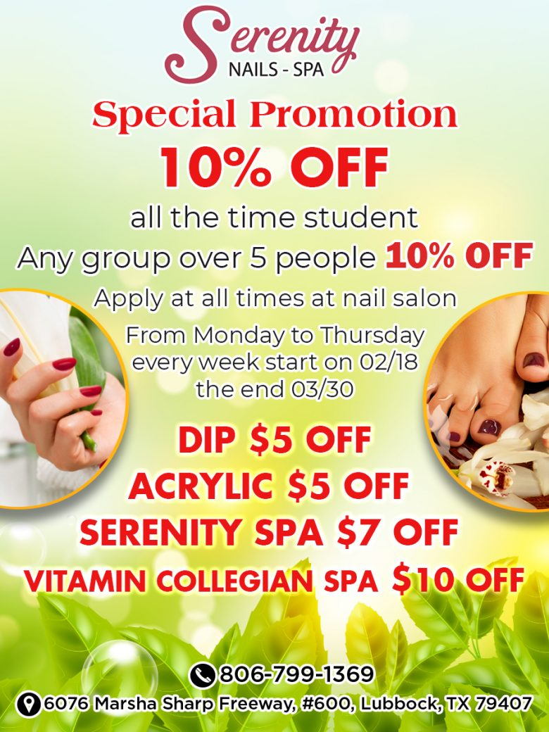 Nail salon in Canyon West Lubbock TX 79407