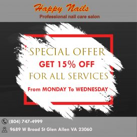 Nail salon 23060 | Happy Nails | Nail salon in Glen Allen VA 23060