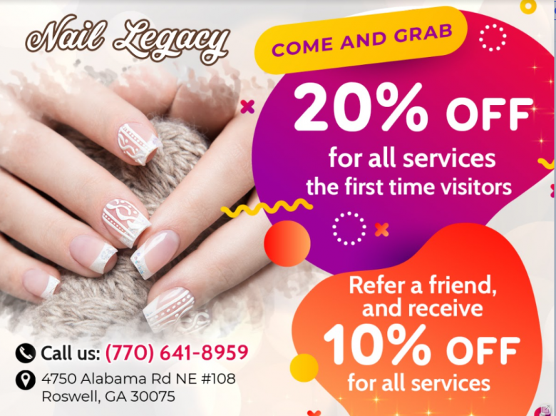 Nail salon Mountain Park Plaza Roswell GA 30075