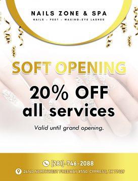 Nails Zone & Spa - Nail salon 77429
