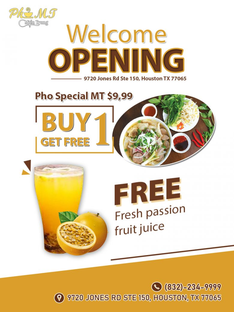 Pho MT - Vietnamese Restaurant Steepleway Shopping Center Houston TX 77065