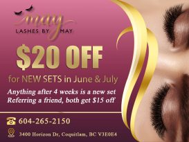 Lashes by May - Top 1 Eyelash Extensions near me Burke Mountain Coquitlam BC V3E0E4