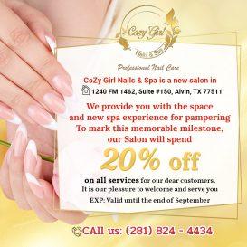 Cozy Girl Nails & Spa - Nail salon Alvin TX 77511